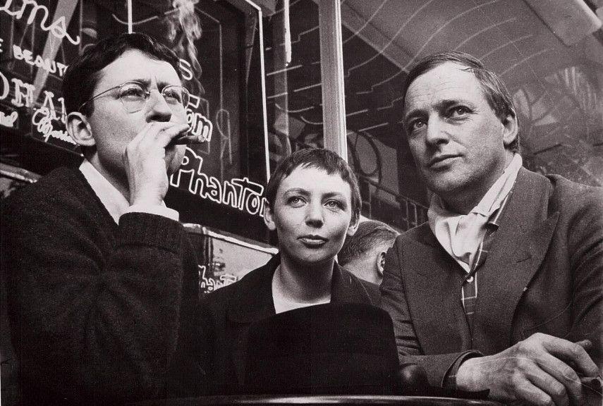 _photo: Guy Debord with Michèle Bernstein and Asgar Jorn, 1961._